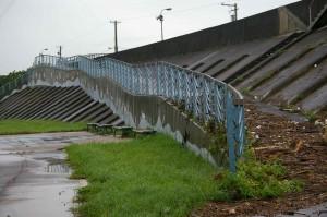 typhoon debris on ramp