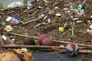typhoon trash collection