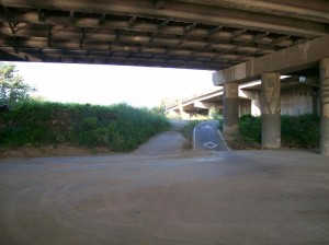 bike path under the street