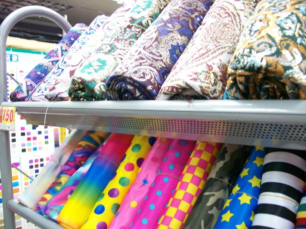 The Real Fabric Market in Taipei Taiwan