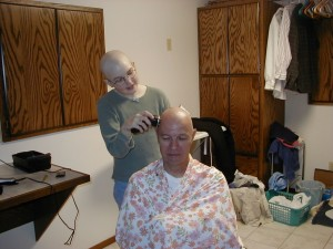 Melody shaves Grandpa