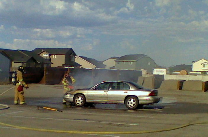 Nampa Fire Crew Puts Out Car Fire