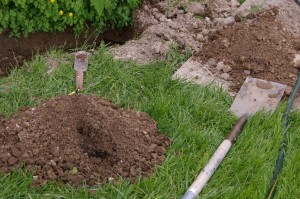 how to find broken sprinkler pipe underground