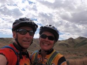 Greg and Laura enjoying spring time in the Owyhees