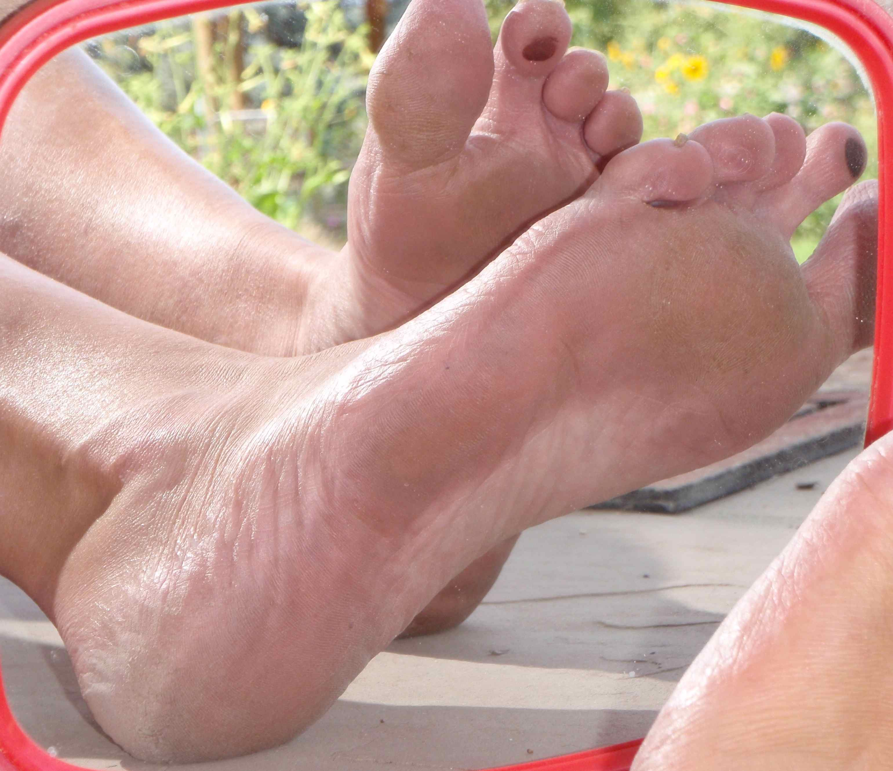 Old woman soles