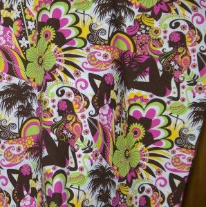 Hawaiian fabric one piece I bought