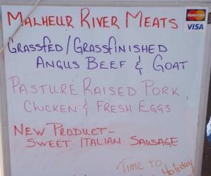 Malheur River Meats sign