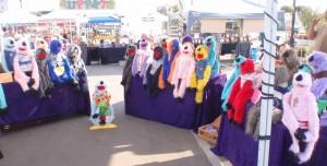rainbow of furry puppets
