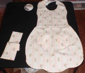 McCalls apron 6092 main body sewn