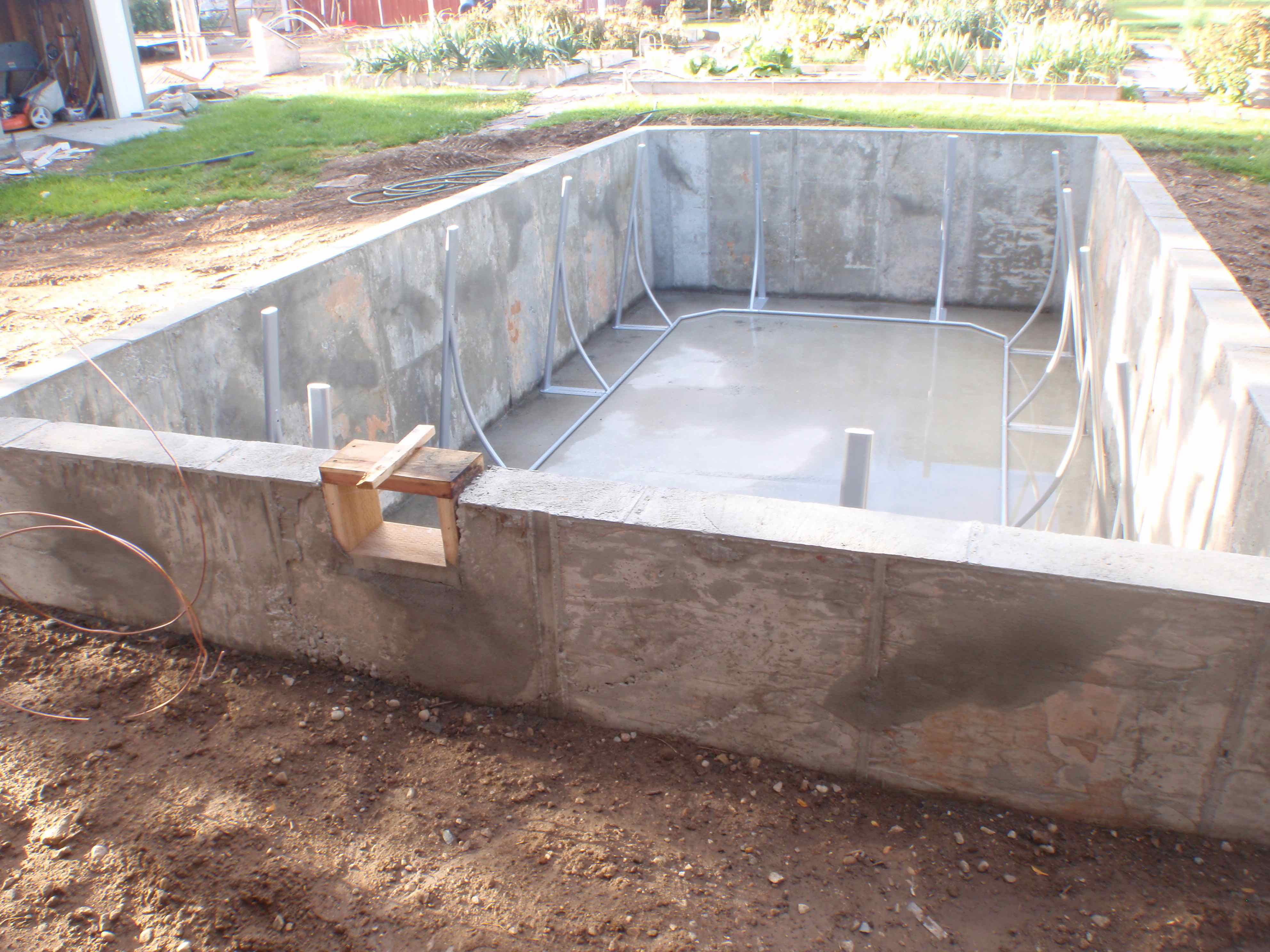 putting in a swimming pool for triathlon training u2013 the cement box