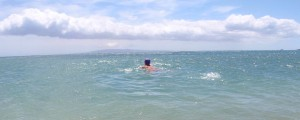 An open water swim in the ocean this fall, wishing I could go faster.