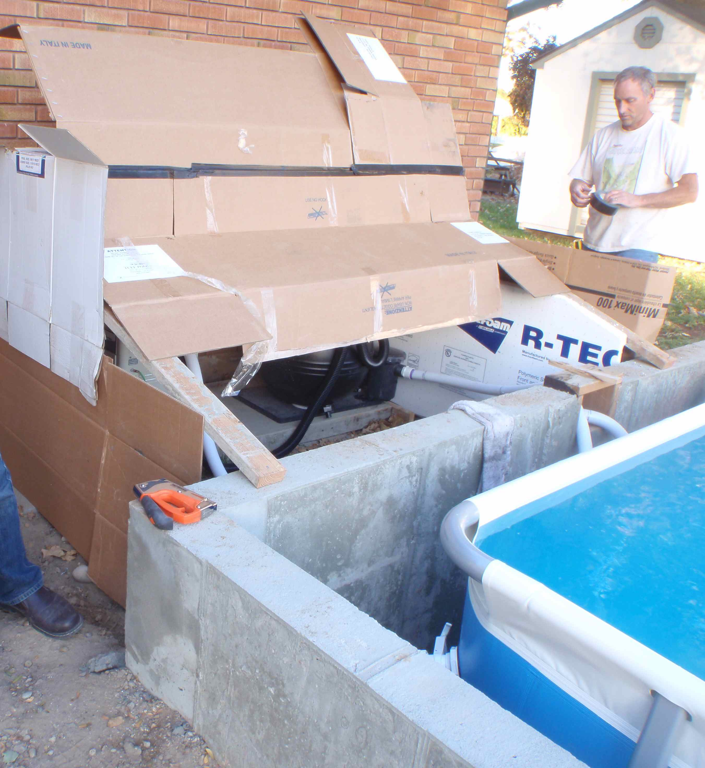 Putting In A Swimming Pool For Triathlon Training Recycling Packing Peanuts For Insulation