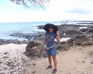 Helpless Female being lead along La Perouse Bay in Maui