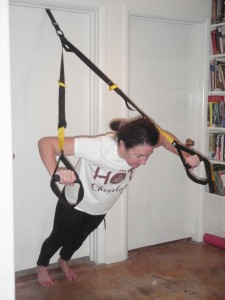 the TRX strap system is convenient and versatile