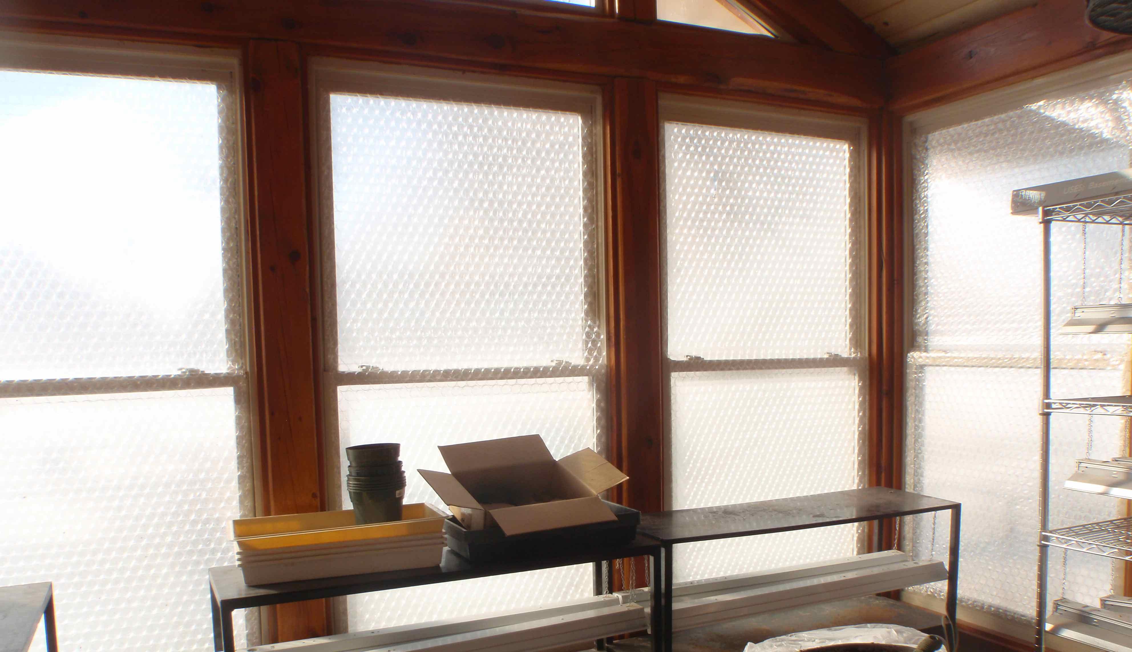 Bubble Wrap On Windows Still Lets A Lot Of Light In
