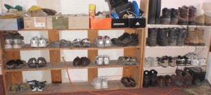 improved shoe shelf organization, the glove boxes on the top shelf will be next