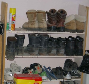 boot shelf and several of hubby's shoe stash also needs attention