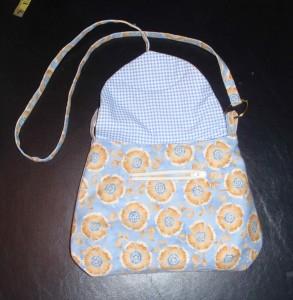 zipper pocket will be hidden by purse flap