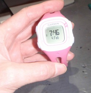 Running with my pink Garmin Forerunner 10 adds a new level of fun
