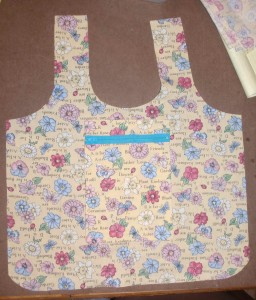 sturdy zipper pocket for homemade bags