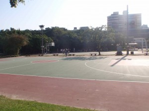 basketball courts just south of Dadaocheng Wharf