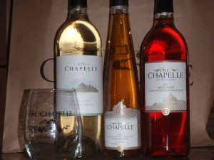 Greg found some good Ste. Chapelle wines while I ran.