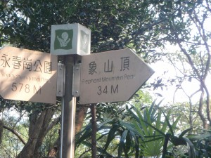 sign post on Elephant Mountain