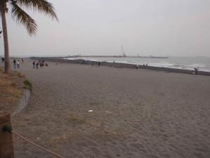 black sand beach near Kaohsiung, Taiwan