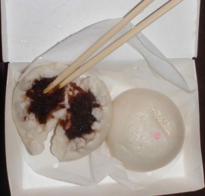 steamed red bean paste dumplings