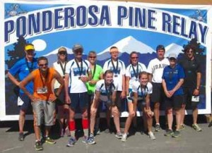 Chandler with his Ponderosa Pine Relay team