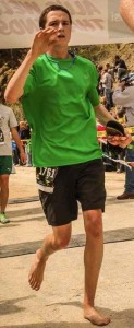 Chandler crossing the finish line at the Race to Robie 2013