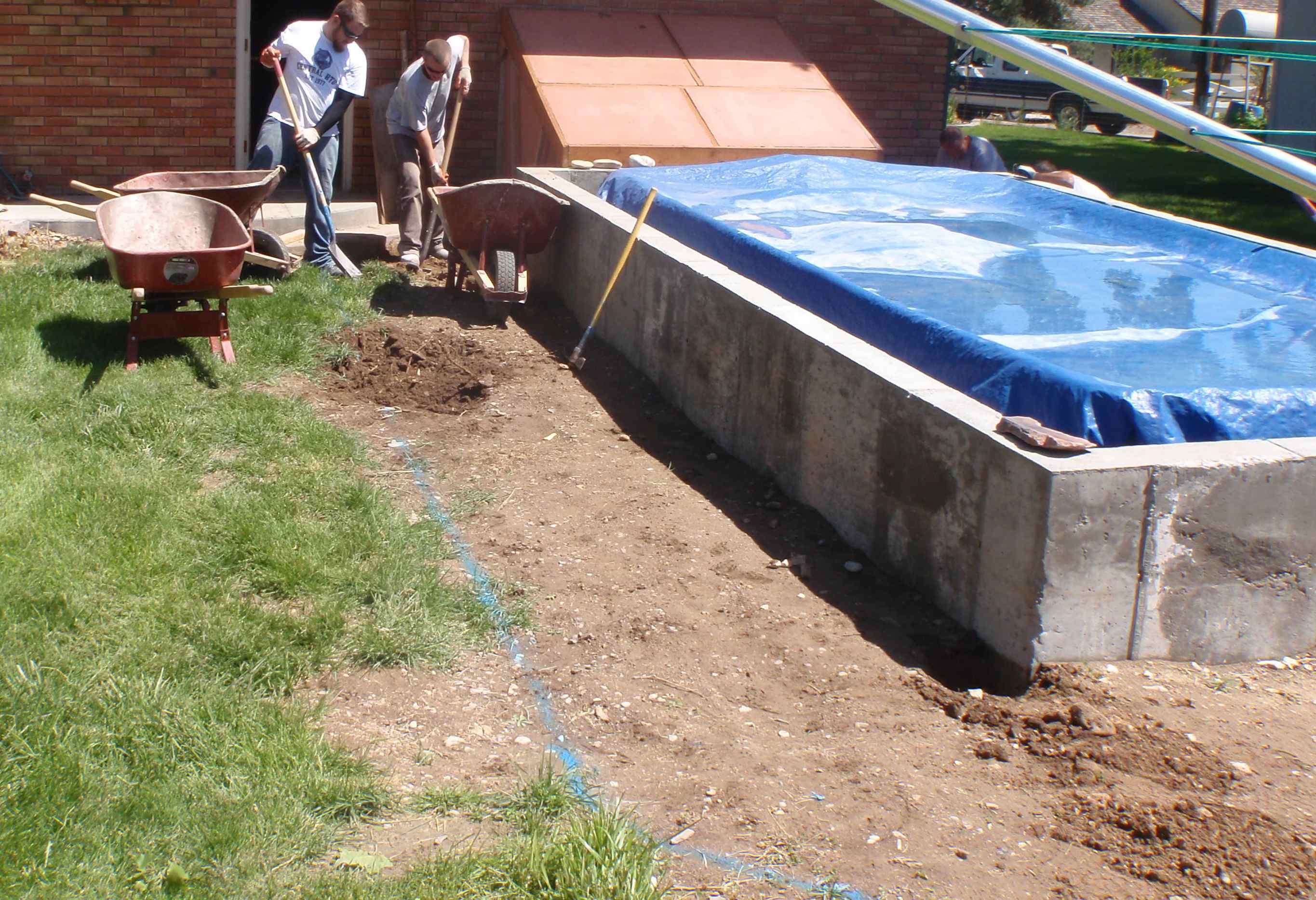 Swimming Pool Project – Hiring Mr. Mudd for Cement Work