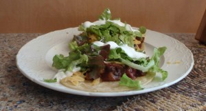 bacon black bean burrito tacos
