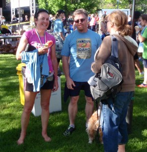 "I stumbled upon my recent running partner after the race at the booth for <a href=""http://www.barefootboise.com"" target=""_blank"">a barefoot race in Boise in September</a>"