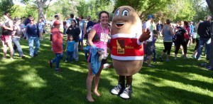 quite a few people wanted their picture with the potato  :-)