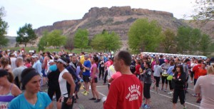 pre-race dance; I had already gotten in some good, open-the-depths-of-the-lungs, full voice singing during the 40 minute drive