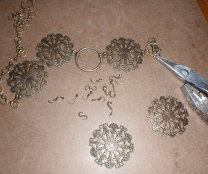 salvaging metal rings from belt