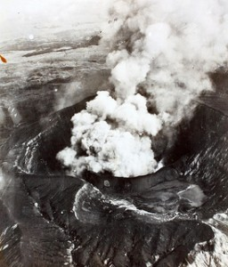"fire and smoke indicate volcanic activity  <a href=""http://www.flickr.com/photos/sdasmarchives/8683352987/"" target=""_blank"">photo from flickr SDASM Archives</a>"