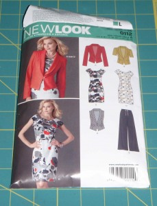New Look dress pattern 0112 includes a simple sheath dress with raglan sleeves