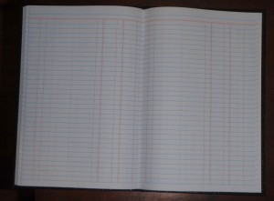 unused pages in my current ledger book
