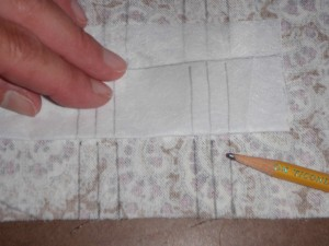 then, folding the pleat guide to make dots at the other end, and connect it all
