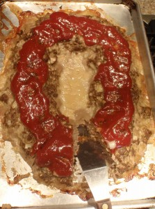 meatloaf in a ring cooks more quickly than in a loaf pan