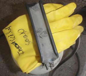 labeled rubber gloves for insecticidal soap only