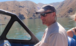 It is kind of handy that my coach/husband has a boat.