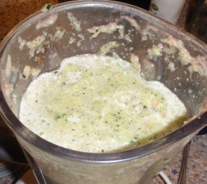 zucchini pureed with chicken soup stock
