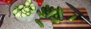 Slicing cucumbers for making bread and butter pickles is somehow NOT like slicing other vegetables.