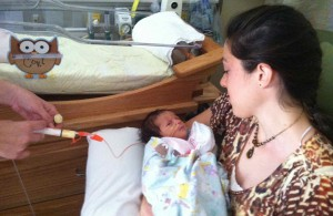 Aunt Natalie gets to meet Cori Lou for the first time