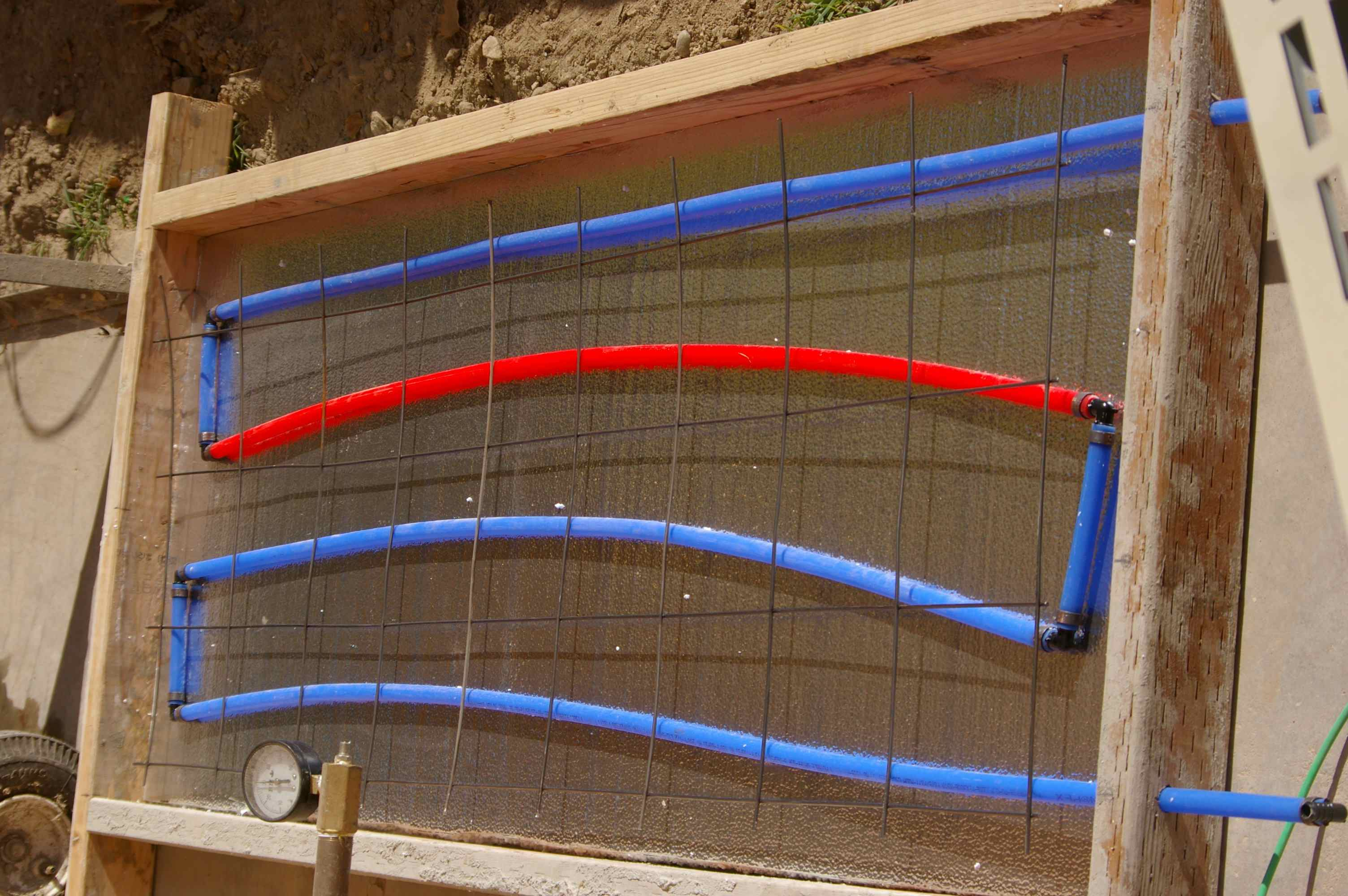Heating Heater Tubing In Cement