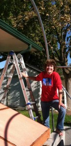 This helpless female is glad to be done cleaning gutters for now!