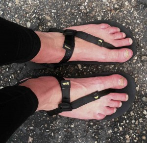 Happy feet after the run in my new Luna sandals.